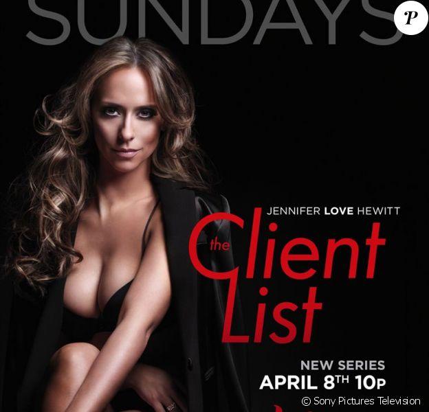 Jennifer Love Hewitt pose pour The Client List. L'affiche d'origine