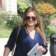 Hilary Duff à Los Angeles lors de sa première sortie après son accouchement. Le 29 mars 2012.