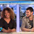 Monia et Guillaume sur le plateau des Anges de la télé-réalité 4 le lundi 16 avril 2012