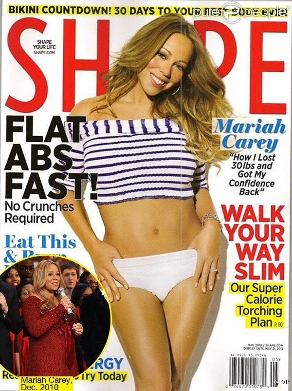 Mariah Carey en couverture du magazine  Shape  pour le mois de mai 2012