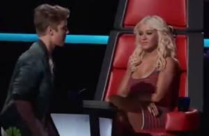 Christina Aguilera snobe Justin Bieber en direct à la télé : pas très élégant...