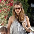 Jessica Alba, Honor et Haven se rendent à une fête d'anniversaire. Los Angeles, le 29 avril 2012.