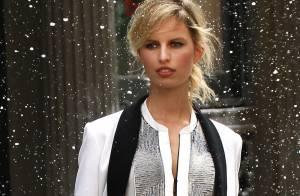 Karolina Kurkova : Sublime et élégante sous la neige au mois de mai