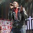 Jermaine Paul en concert à Universal City en Californie, le 2 mai 2012. Une semaine avant sa victoire dans la seconde saison de  The Voice  US.