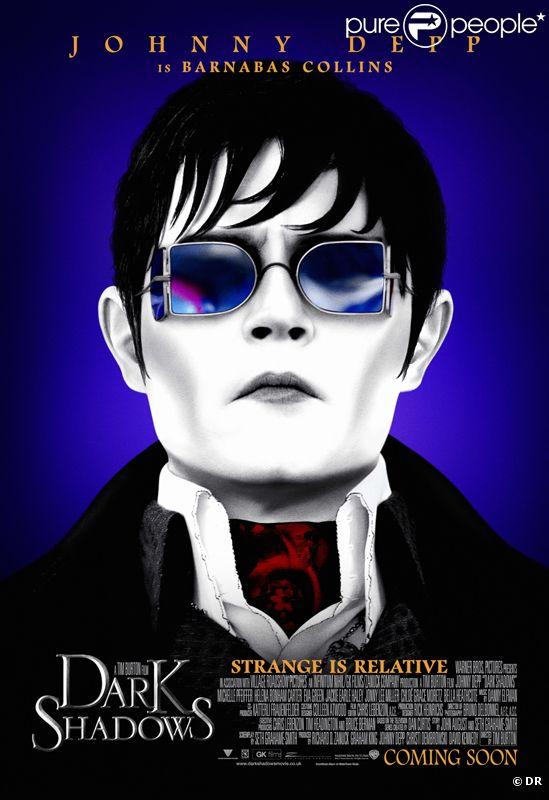 Affiche du film dark Shadows de Tim Burton avec Johnny Depp