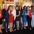Photo de groupe des journalistes présents lors de la conférence de presse pour le lancement de la troisième édition de La flamme Marie Claire, à Paris, le 10 mai 2012