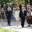 La princesse Caroline de Hanovre prenait part le 11 mai 2012 à la célébration des 900 ans de la Maison de Baden, à Baden-Baden.