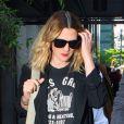 Drew Barrymore, une future mariée enceinte, dans les rues de New York le 11 mai 2012