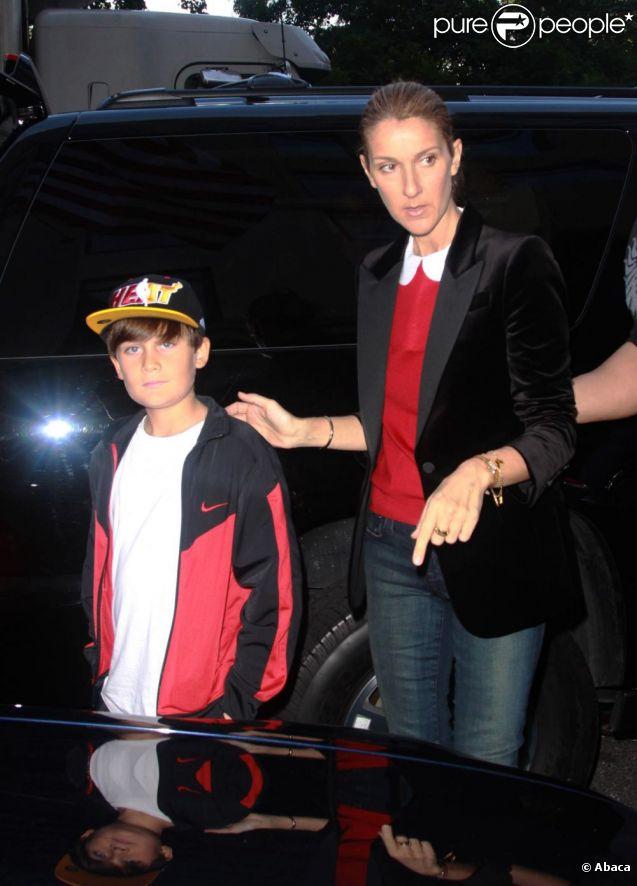 Céline dion et son fils rené-charles en septembre 2011