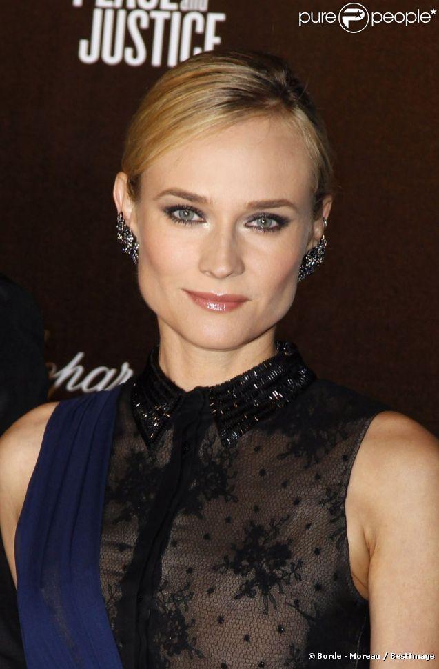 """Diane Kruger très en beauté, assistait à la soirée """"Carnaval d'Haïti"""". Cannes, le 18 mai 2012."""