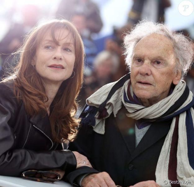 Isabelle Huppert et Jean-Louis Trintignant lors du photocall de Amour, durant le Festival de Cannes le 20 mai 2012