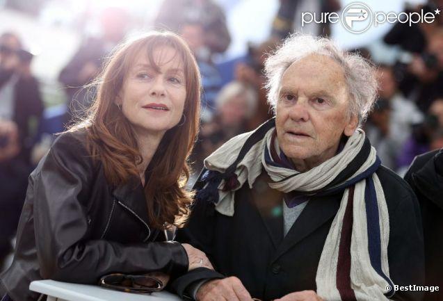 Isabelle Huppert et Jean-Louis Trintignant lors du photocall de  Amour , durant le Festival de Cannes le 20 mai 2012