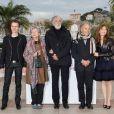 Alexandre Tharaud, Emmanuelle Riva, Michael Haneke, Jean-Louis Trintignant et Isabelle Huppert lors du photocall de  Amour , durant le Festival de Cannes le 20 mai 2012