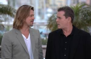 Cannes 2012 : Brad Pitt, chevelu et souriant, charme dès son arrivée au festival