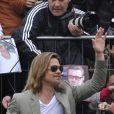 Brad Pitt lors du photocall du film Cogan - La Mort en douce (Killing Them Softly) le 22 mai 2012 au festival de Cannes