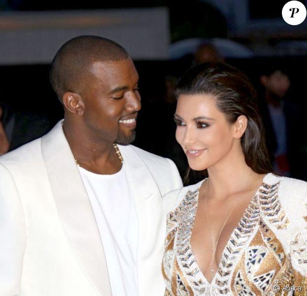 Kanye West n'avait d'yeux que pour sa belle, Kim Kardashian, lors de l'avant-première du film Cruel Summer. Cannes, le 23 mai 2012.