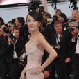 Kim Yoon-jin à la montée des marches du Palais des Festivals, pour le film Cosmopolis, à Cannes le 25 mai 2012