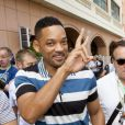 Will Smith dans le paddock du Grand Prix de Monaco le 27 mai 2012