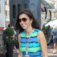 Fabiana Flosi, femme de Bernie Ecclestone dans le paddock du Grand Prix de Monaco le 27 mai 2012