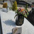 La tombe de Romy Schneider au cimetière de Boissy-sans-Avoir dans les Yvelines