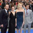 Michael Fassbender, Noomi Rapace, Charlize Theron et Logan Marshall-Green à l'avant-première de  Prometheus  à Londres, le 31 mai 2012.