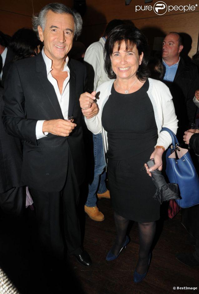 Bernard-Henri Lévy et Anne Sinclair à l'avant-première du  Serment de Tobrouk , à Paris, le 5 juin 2012.