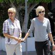 Trop belles, Ellen DeGeneres et sa femme Portia de Rossi se ressemblent. Los Angeles, le 6 juin 2012