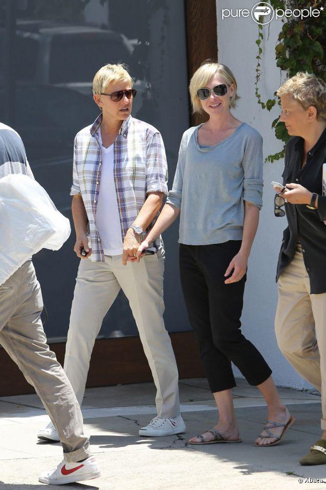 Ellen DeGeneres et sa femme Portia de Rossi se ressemblent, Los Angeles, le 6 juin 2012