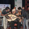 Omar Sy, Jamel Debbouze et Ary Abittan lors de la présentation du deuxième Festival de rire de Marrakech à Marrakech le vendredi 8 juin 2012