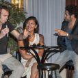 Franck Dubosc, Nawell Madani et Jamel Debbouze lors de la présentation du deuxième Festival de rire de Marrakech à Marrakech le vendredi 8 juin 2012