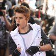 """""""Justin Bieber donne un concert au Rockefeller Center à New York, le 15 juin 2012."""""""