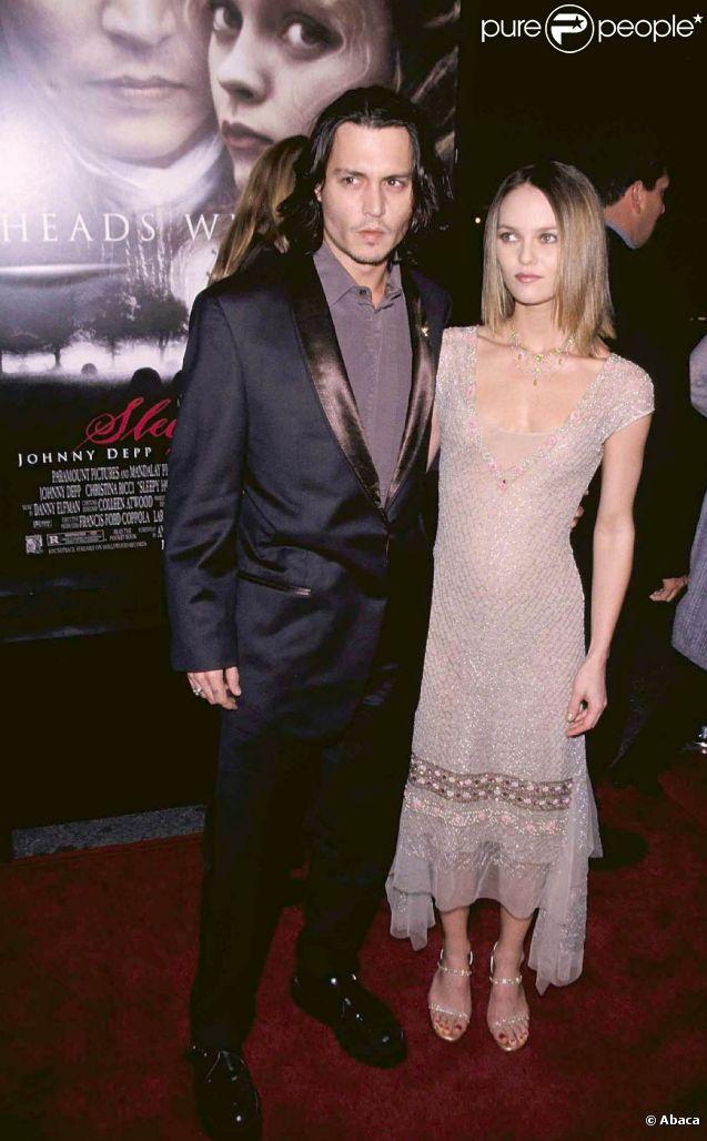 Vanessa Paradis et Johnny Depp en 1999