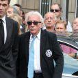 Jacques Vendroux lors des obsèques de Thierry Roland le 21 juin 2012 en l'église Sainte-Clotilde à Paris
