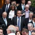 Michel Platini lors des obsèques de Thierry Roland le 21 juin 2012 en l'église Sainte-Clotilde à Paris