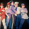 Michael Jackson en concert à Londres pour le Bad Tour, juillet 1988.