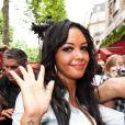 Nabilla lors du showcase des Anges de la télé-réalité 4 au Ice Baar des Chalos-Elysées le 27 juin 2012 à Paris