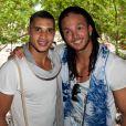 Mohamed et Anthony lors du showcase des Anges de la télé-réalité 4 au Ice Baar des Chalos-Elysées le 27 juin 2012 à Paris