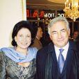 Anne Sinclair et Dominique Strauss-Kahn à Paris, le 10 novembre 2000.