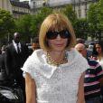 Anna Wintour arrive au Théâtre National de Chaillot pour le défilé Giorgio Armani Privé. Paris, le 3 juillet 2012.