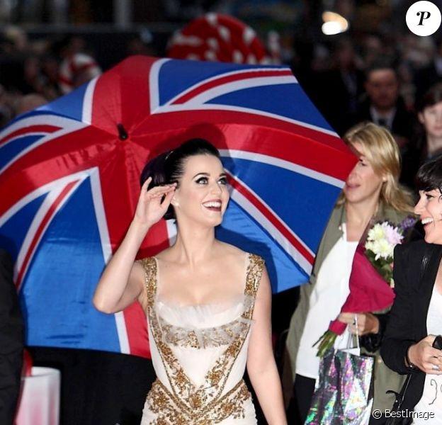 Katy Perry à l'avant-première de Part of Me 3D, à Londres, le 3 juillet 2012.