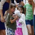 """""""Katie Holmes et Suri Cruise avec des amis dans les rues de New York, le 5 juillet 2012"""""""