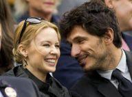 Kylie Minogue : Souriante et amoureuse pour assister à la victoire de Federer