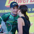 Thomas Voeckler savoure après avoir décroché sa première victoire d'étape sur le Tour de France le 11 juillet 2012 entre Mâcon et Bellegarde-sur-Valserine