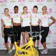 Les sexy tops Lindsay Ellingson, Arlenis Sosa, Doutzen Kroes, Behati Prinsloo, Erin Heatherton ont mouillé le maillot lors d'un événement sportif et caritatif à New York le 11 juillet 2012