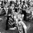 Johnny Hallyday participe à la randonnée du courage Pat Burns pour la recherche contre le cancer, à Québec, le 10 juillet 2012.