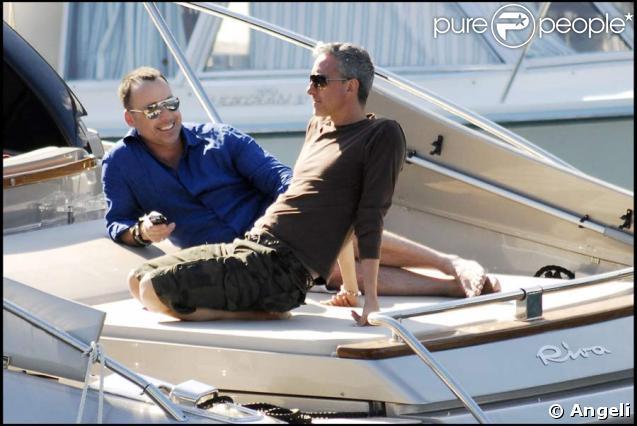Le mari d'Elton John, David Furnish, passe du bon temps