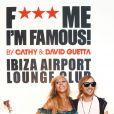 Cathy et son époux David Guetta inaugurent le F*** Me I'm Famous Lounge Club au coeur de l'aéroport d'Ibiza, le 17 juillet 2012.