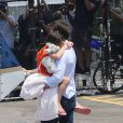 Tom Cruise a offert à sa petite fille Suri un survol de New York en hélicoptère le 18 juillet 2012