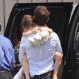 Tom Cruise et sa fille Suri lors d'un survol de New York en hélicoptère le 18 juillet 2012