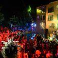 Grosse ambiance à la soirée organisée par l'hôtel Byblos à St-Tropez, le samedi 21 juillet 2012.